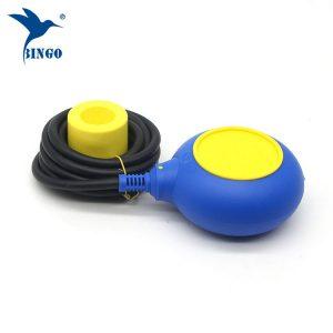 पीले और नीले रंग के रंग फ्लोट स्विच में मैक 3 प्रकार के स्तर नियामक